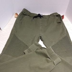 West 49 stretchy moto style jogger jeans